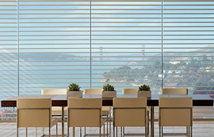 Cellular honeycomb sheer shades provide light and privacy
